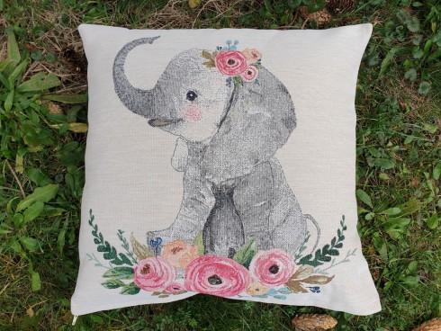 OBLIEČKA GOBELÍN - FANCY ELEPHANT